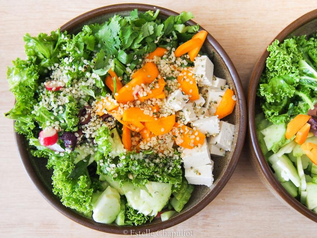 Salade vitaminée vegan et sans gluten