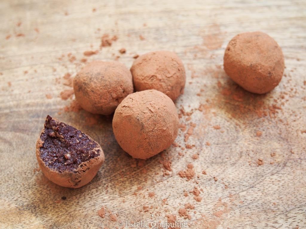 Truffes vegan cajous, cacao, coco