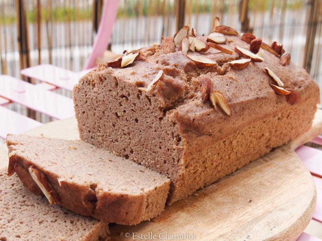 Cake pomme-châtaigne vapeur, sans sucre ajouté, sans gluten
