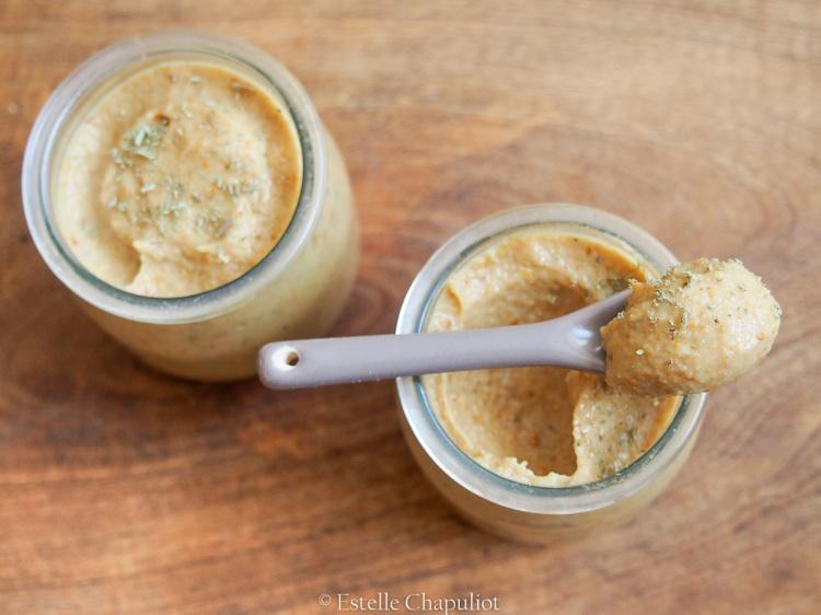 Crèmes aux fruits secs et romarin, végétales et sans sucre ajouté