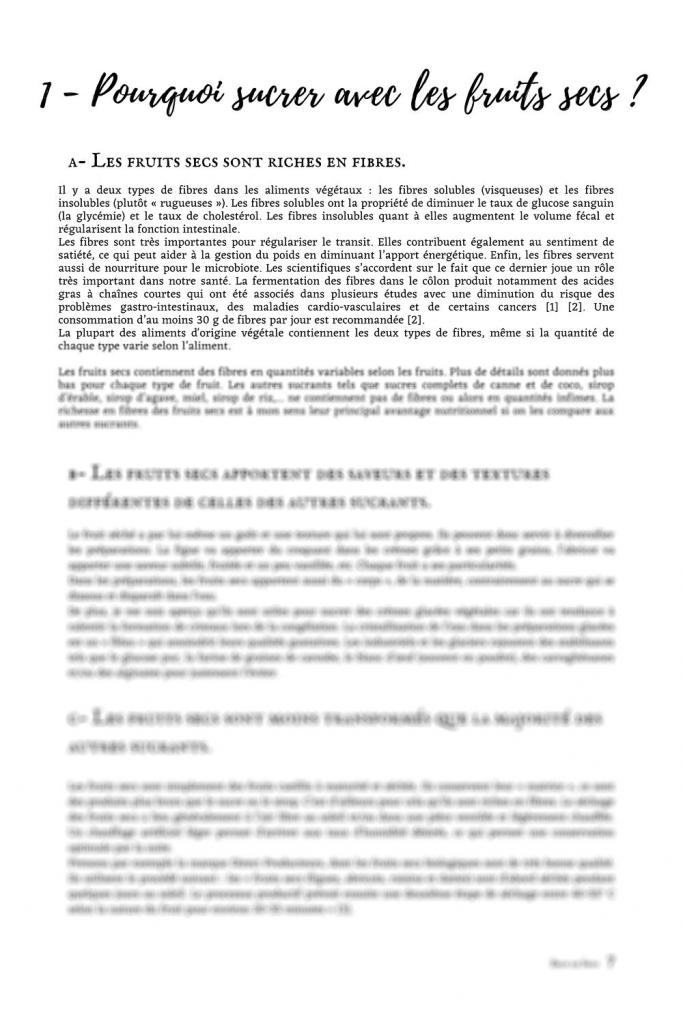 Page 7 - première page du point nutrition