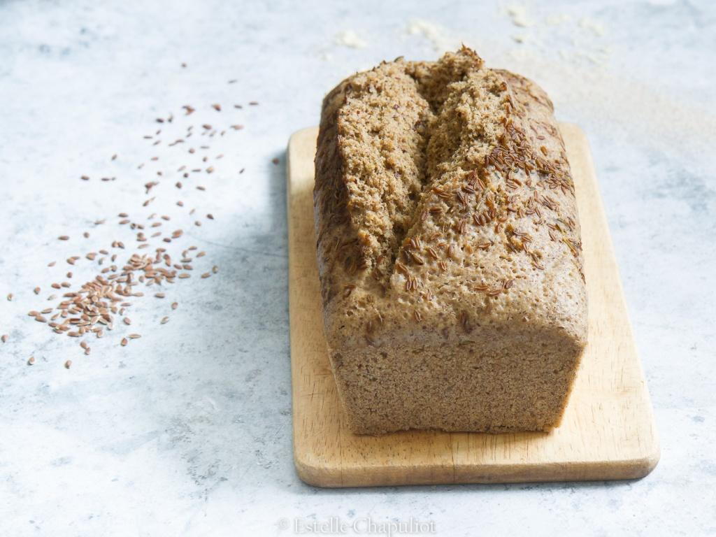 Pain express aux farines de millet et de sarrasin et au lin - sans gluten