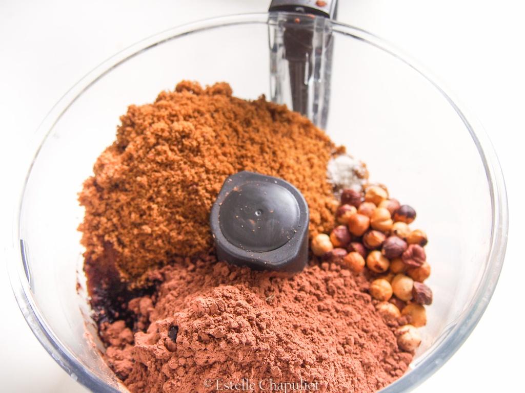 Pâte à tartiner maison noisettes - amandes - cacao cru - caroube, vegan et sans gluten
