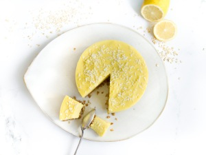 Entremet au citron (base aux flocons d'avoine) - vegan, sans gluten