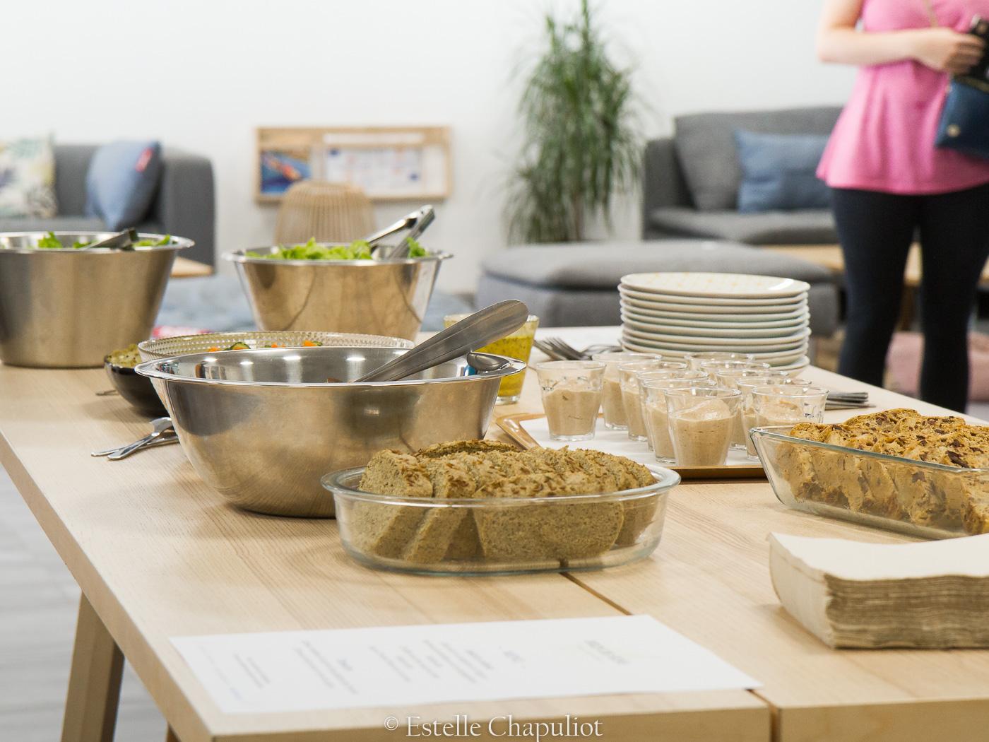 Brunch yoga-escalade : repas coloré végétal et sans gluten pour la société Climb Up