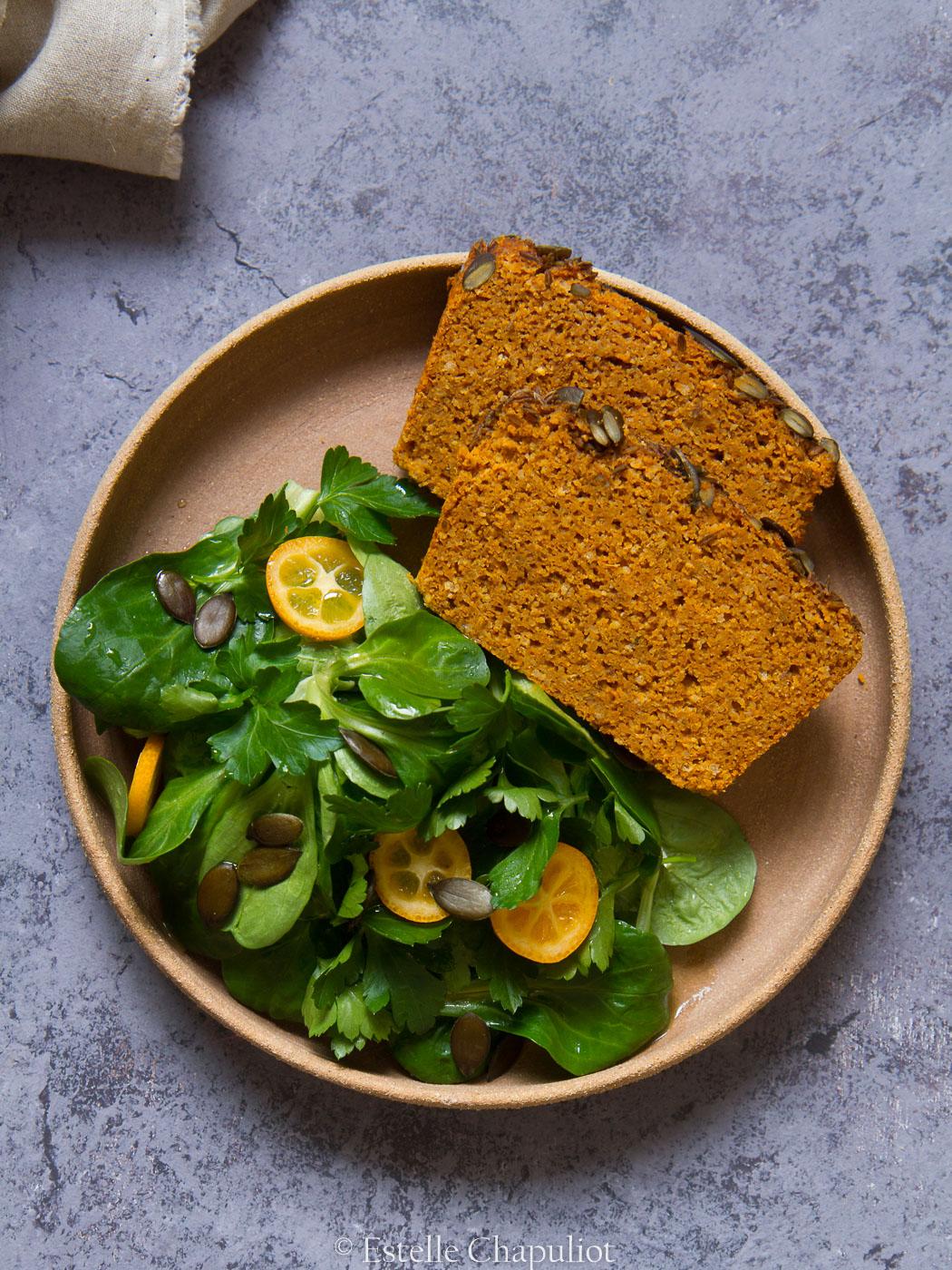 Cake aux lentilles corail et au curry façon dhal (vegan et sans gluten)