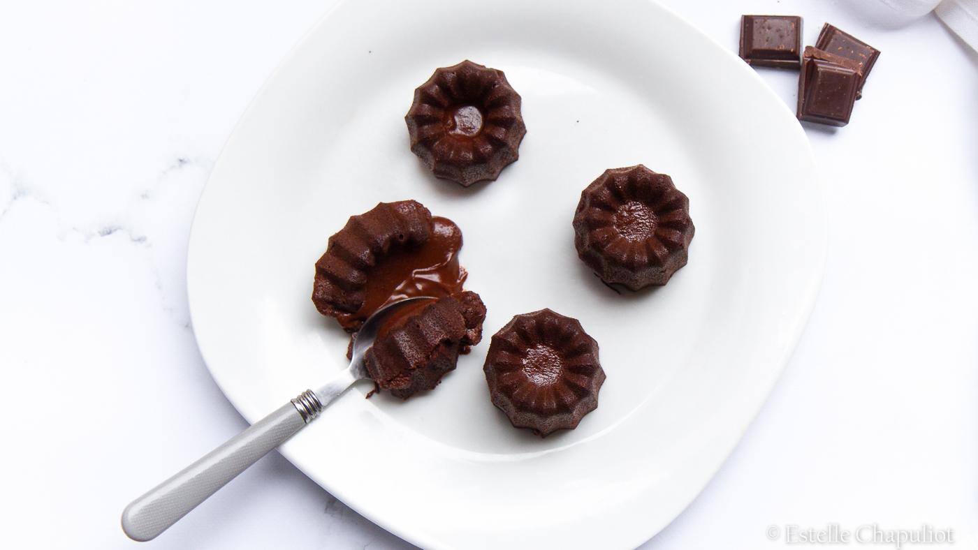 Fondants au chocolat au coeur coulant (vegan et sans gluten)