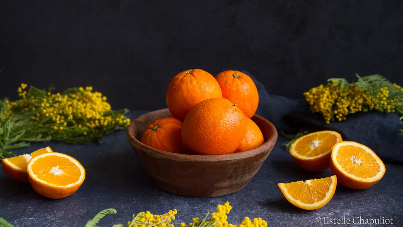Oranges et mimosas Estelle Chapuliot photographe