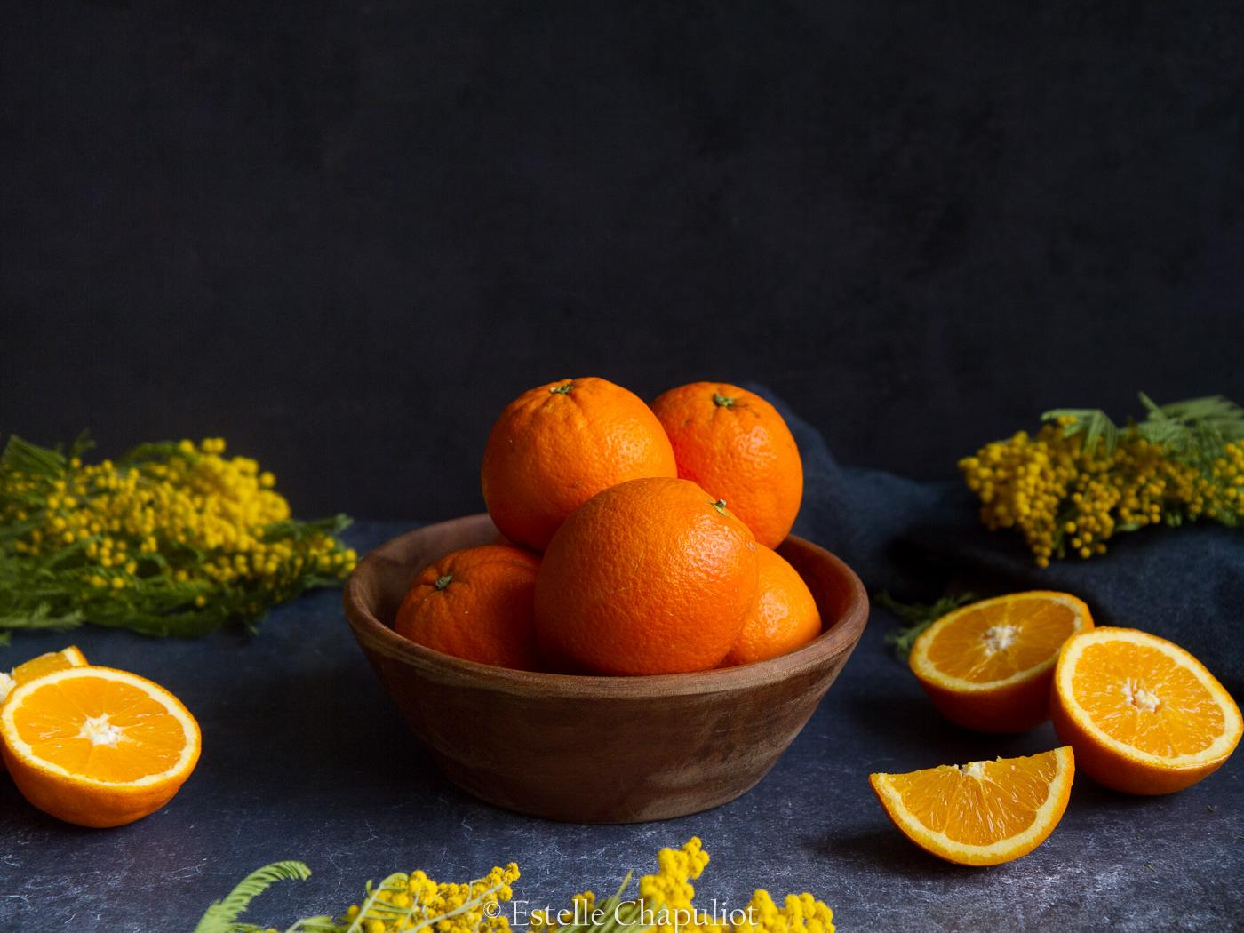 Oranges et mimosas