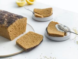 Cake au citron et aux grains de millet (vegan et sans gluten)