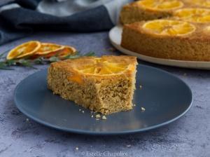 Gâteau renversé à l'orange (vegan et sans gluten)