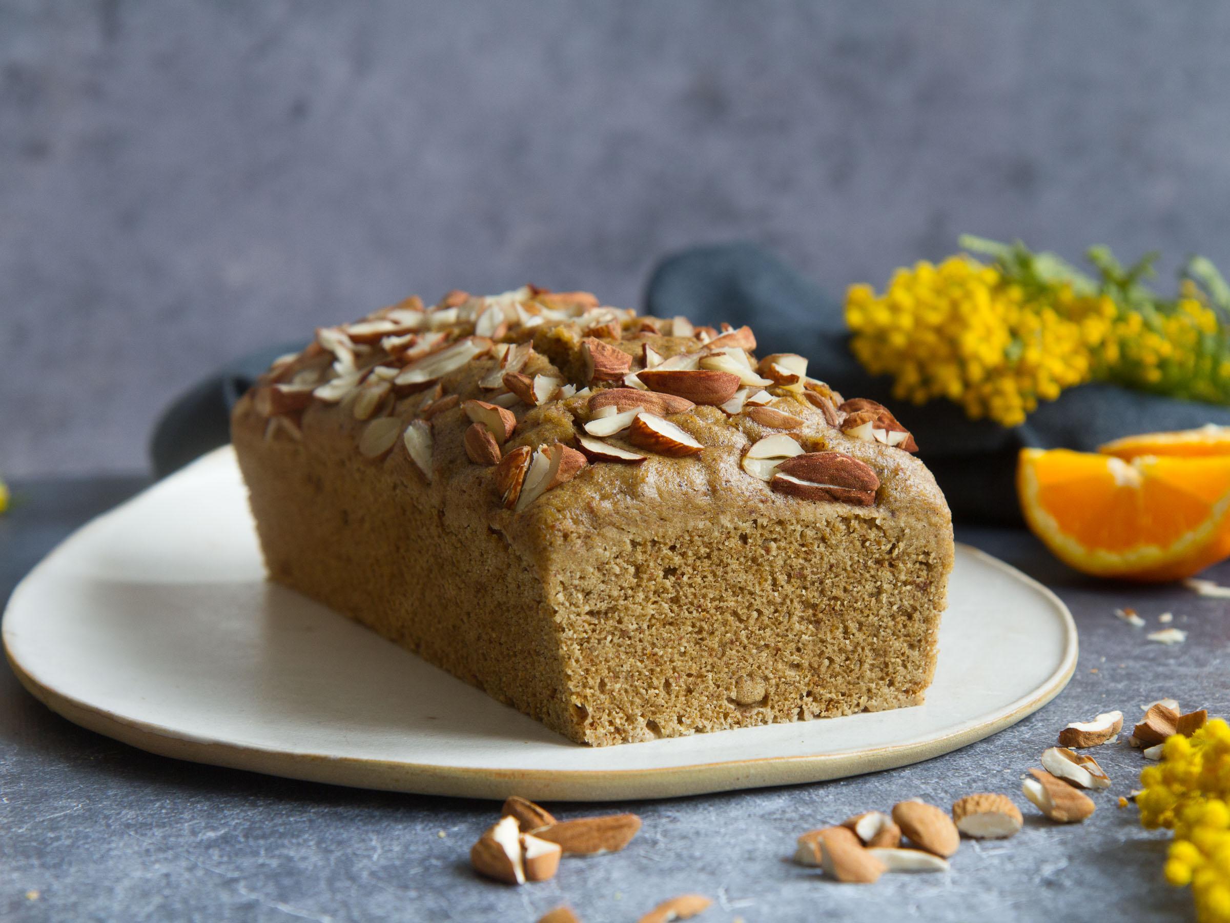Cake à l'orange et au sarrasin (vapeur, sans gluten, vegan)