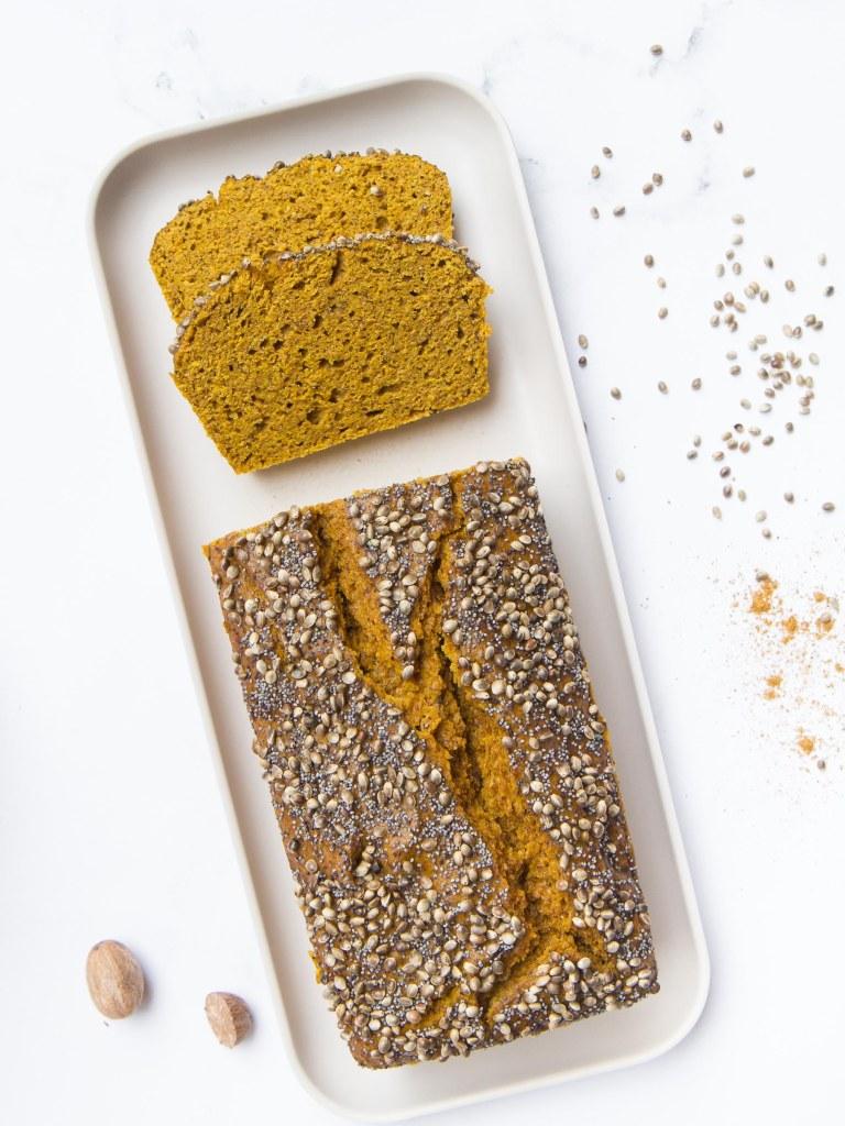 Cake au potimarron, au sarrasin et au curry (vegan, sans gluten)