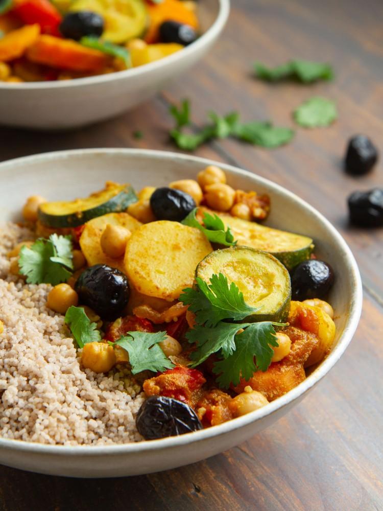 Légumes façon tajine et couscous de sarrasin (vegan, sans gluten)