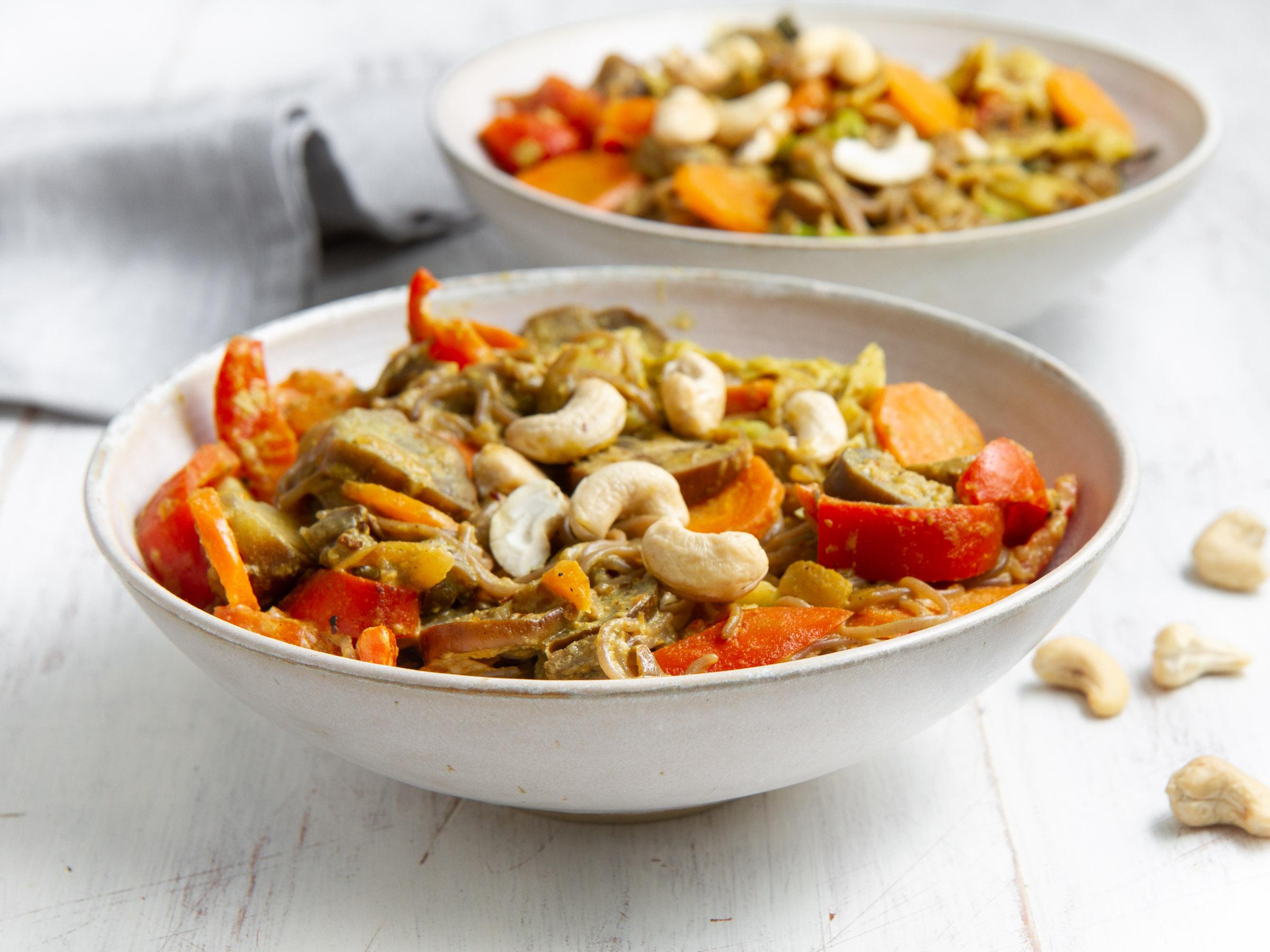 Pad thaï aux légumes de saison (vegan, sans gluten)
